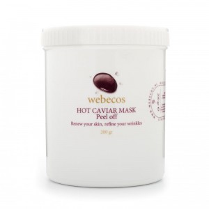 Maska kawiorowa typu peel off Webecos Hot Caviar peel off mask 200g